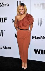 Meagan Good wears Max Mara - Max Mara & W magazine cocktail party