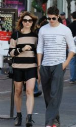 Crystal Reed and Daniel Sharman: out at The Grove in Los Angeles