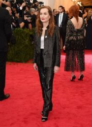 Isabelle Huppert: Red Carpet Arrivals at the Met Gala 2014