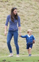 Catherine Duchess of Cambridge attend the Gigaset Charity Polo Match