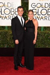 Justin Theroux and Jennifer Aniston: 72nd Annual Golden Globe Awards 2014- Arrivals
