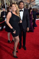Mariah Carey and Nick Cannon: 20th Annual Screen Actors Guild Awards - Red Carpet