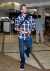 Paul Walker arrives at LAX (Los Angeles International Airport)