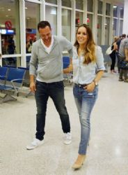 Kalomoira Sarantis and Giorgos Mpousalis: airport look