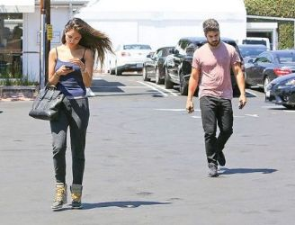 Eiza Gonzalez and DJ Cotrona: out and about