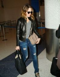 Mandy Moore: arrives on a flight at LAX Airport in Los Angeles