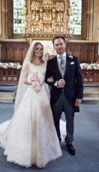 Geri and her new husband Christian Horner a very traditional church wedding held in Woburn, Bedfordshire