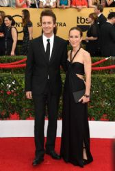 Edward Norton and Shauna Robertson: 21st Annual Screen Actors Guild Awards - Arrivals