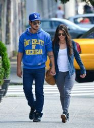 Taylor Lautner and Marie Avgeropoulos strolled around the Big Apple