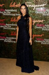Demi Moore wears Salvatore Ferragamo - Wallis Annenberg Center for the Performing Arts Inaugural Gala