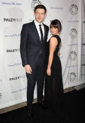Lea Michele with Cory Monteith: showed up at the PaleyFest Icon Awards in Beverly Hills
