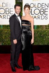 Adam Levine and Behati Prinsloo: 72nd Annual Golden Globe Awards 2015- Arrivals