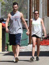 Lea Michele: out for a hike at the TreePeople Park in Studio City