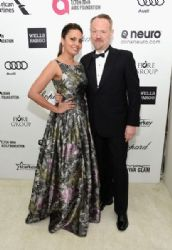 Allegra Riggio and Jared Harris: Elton John AIDS Foundation Oscars 2015 Viewing Party