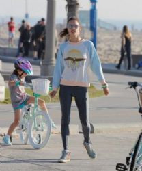 Alessandra Ambrosio on a Bike Ride
