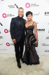 DeVon Franklin and Meagan Good: Elton John AIDS Foundation Oscars 2015 Viewing Party