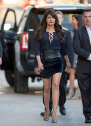 Priyanka Chopra is seen at 'Jimmy Kimmel Live.' Monday September 28,2015 Hollywood Calif