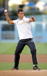 Cristiano Ronaldo: Not So Pitch Perfect At Dodgers Game