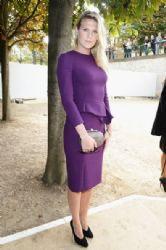 Alexandra Richards wears Elie Saab - front row at Elie Saab spring 2014