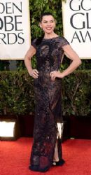 Julianna Guill: arrives at the 70th Annual Golden Globe Awards held at The Beverly Hilton Hotel