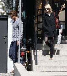 Emma Stone and Andrew Garfield leaving Book Soup
