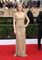 Emily Blunt wears  Roberto Cavalli Dress : 23rd Annual Screen Actors Guild Awards