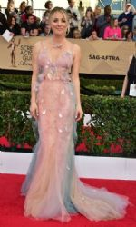 Kaley Cuoco wears Marchesa Dress : 23rd Annual Screen Actors Guild Awards
