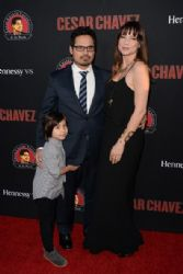 Michael Peña and Brie Shaffer: 'Cesar Chavez' Premieres in LA