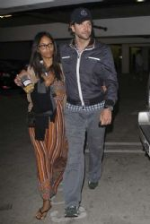 Bradley Cooper and Zoe Saldana: at the Arclight Dome Theater where they saw