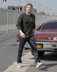 Ben Affleck goes to an office building in Santa Monica on April 01, 2016