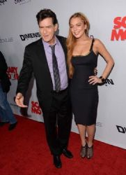 Lindsay Lohan and Charlie Sheen arrived at the Hollywood premiere of