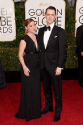 Samantha Bryant and Colin Hanks: 72nd Annual Golden Globe Awards 2015- Arrivals