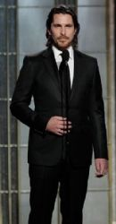 Christian Bale: arrives at the 70th Annual Golden Globe Awards held at The Beverly Hilton Hotel