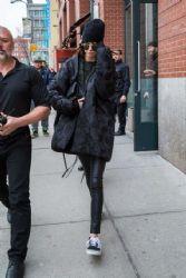 Kendall Jenner visiting Kim Kardashian at her New York City Residence