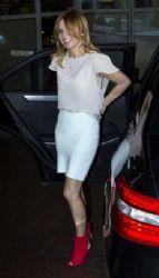 Geri Halliwell Arrives at Her London Hotel
