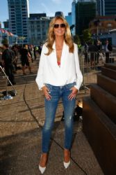 Heidi Klum arrives for the 2015 NRL season launch at Shed 10