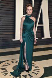 Brie Larson wears Ralph & Russo dress :  2017 Vanity Fair Oscar Party