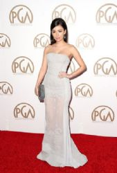 Christian Serratos attends the 26th Annual Producers Guild Of America Awards at the Hyatt Regency Century Plaza
