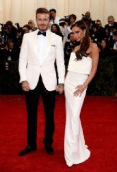 Victoria Beckham and David Beckham: Red Carpet Arrivals at the Met Gala