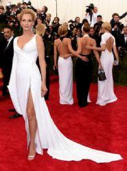 Uma Thurman wears Versace - 2015 Met Gala