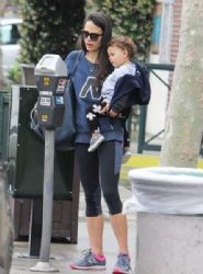 Jordana Brewster: stops by Whole Foods in Brentwood