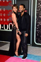Chrissy Teigen and John Legend: 2015 MTV Video Music Awards - Red Carpet