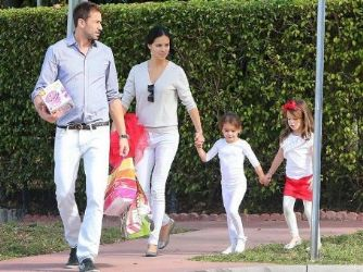 Adriana Lima and Marko Jaric: Christmas school party