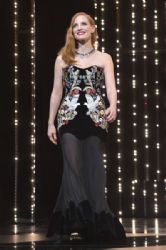Jessica Chastain in Alexander McQueen Dress : Opening Ceremony - The 70th Annual Cannes Film Festival