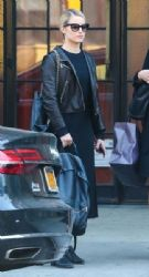 Dianna Agron: leaving the Bowery Hotel in New York City