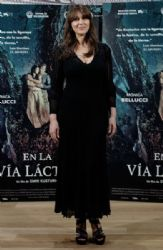 Monica Bellucci in Azzedine Alaïa Dress : 'On The Milky Road' Madrid Photocall