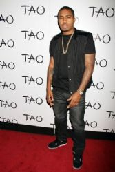 Nas poses at the 'New Years Eve Kick Off' at Tao Nightclub at the Venetian Hotel and Casino in Las Vegas