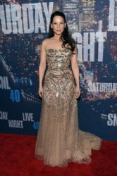 Lucy Liu: attends SNL 40th Anniversary Celebration at Rockefeller Plaza
