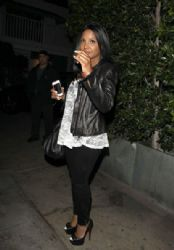 Toni Braxton: at Giorgio Baldi restaurant in Santa Monica