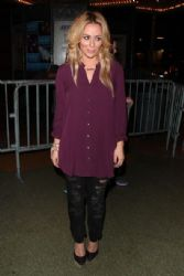 Aubrey O'Day: leaves the Soundgarden concert at The Wiltern in Los Angeles